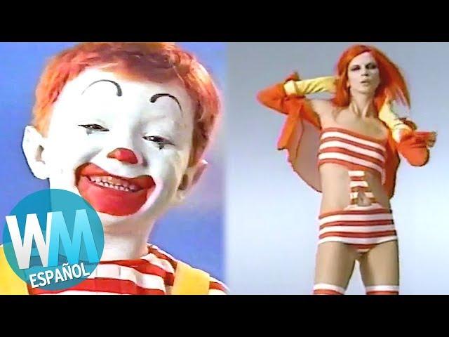 ¡Top 10 COMERCIALES MUY RAROS de McDonald's!