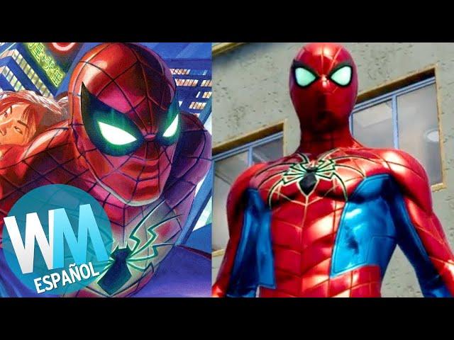 ¡Top 10 Trajes de SPIDER-MAN para el PS4 y de Dónde Vienen!